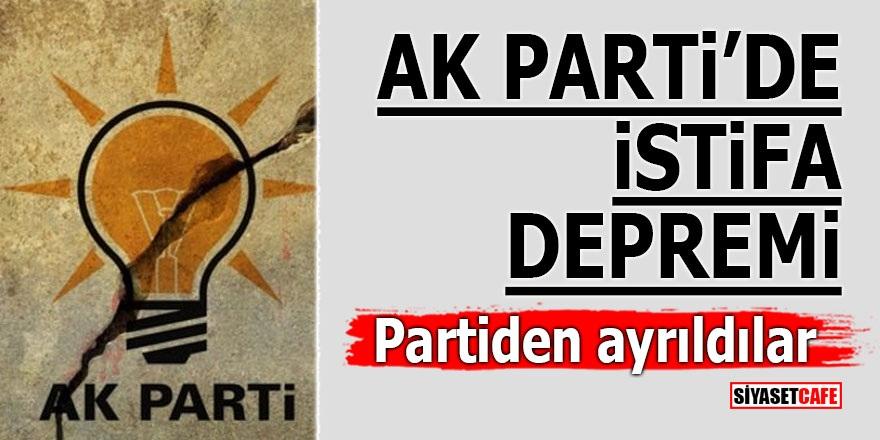 Ak Parti'de istifa depremi! Partiden ayrıldılar