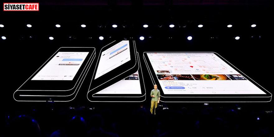Samsung katlanabilen yeni telefonunu tanıttı!