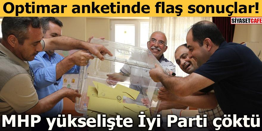 Optimar anketinde flaş sonuçlar! MHP yükselişte İyi Parti çöktü
