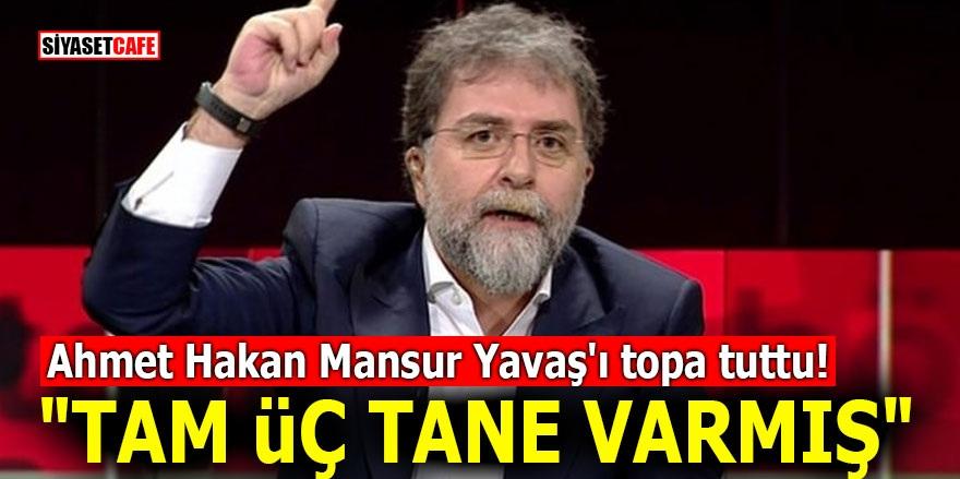 "Ahmet Hakan Mansur Yavaş'ı topa tuttu! ""Tam üç tane varmış"""