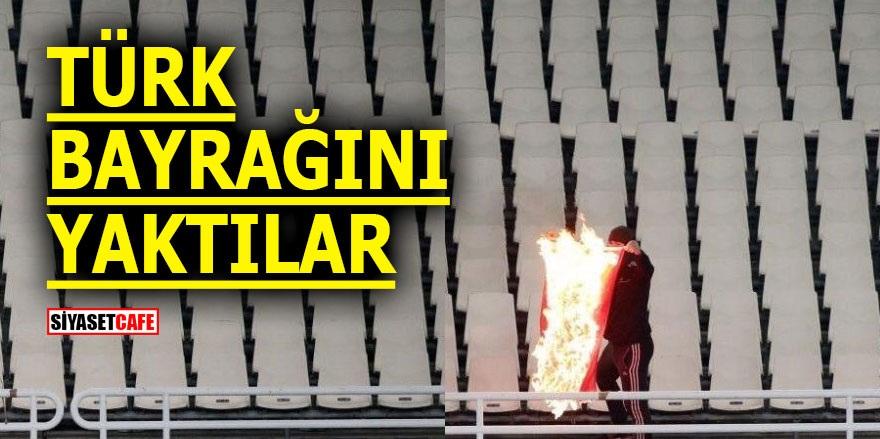 Türk Bayrağı'nı yaktılar!