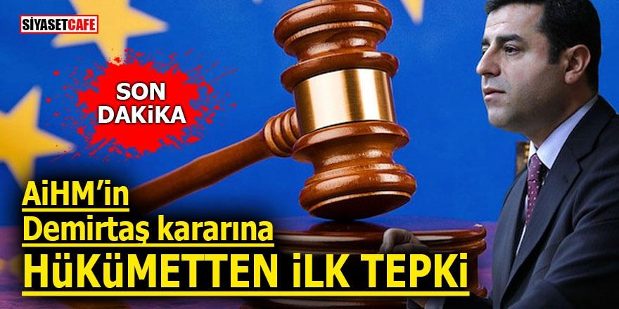 AİHM'in Demirtaş kararına Hükümetten ilk tepki!
