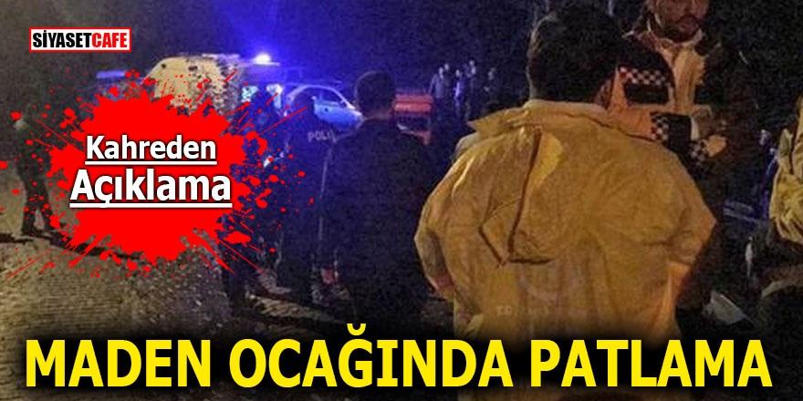 Zonguldak'ta maden ocağında patlama! Vali'den kahreden açıklama