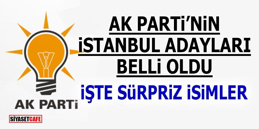 Ak Parti'nin İstanbul adayları belli oldu! İşte sürpriz isimler