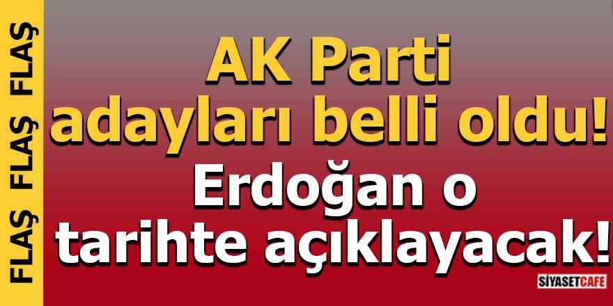 AK Parti adayları belli oldu! Erdoğan o tarihte açıklayacak