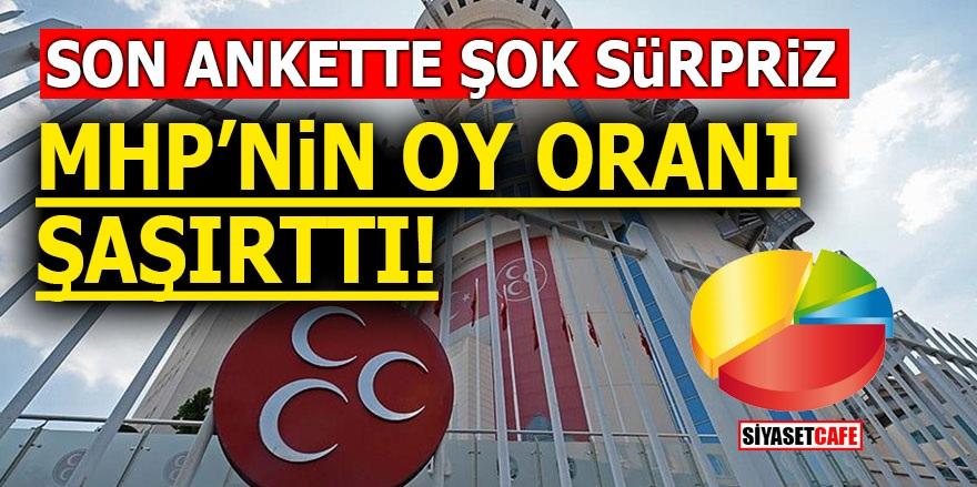 Son ankette şok sürpriz! MHP'nin oy oranı şaşırttı