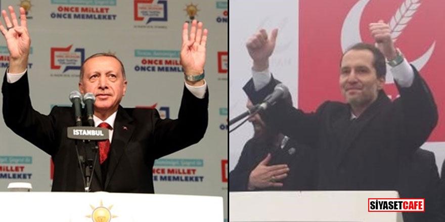 Cumhurbaşkanı Erdoğan ve Erbakan Haliç'in iki yakasında buluştu