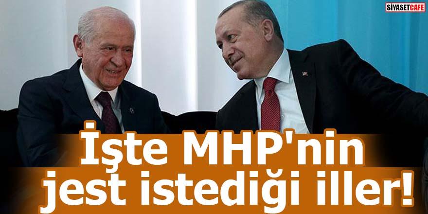 İşte MHP'nin jest istediği iller!