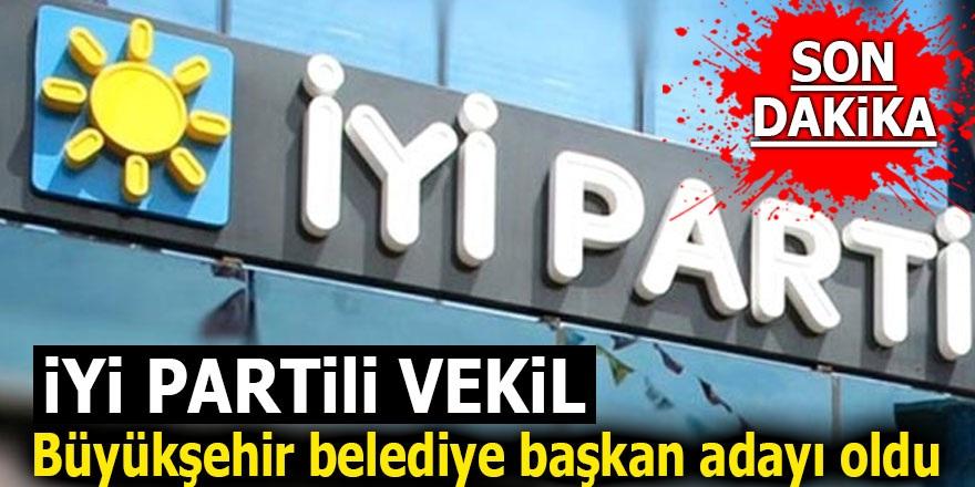 İYİ Partili Vekil Büyükşehir belediye başkan adayı oldu