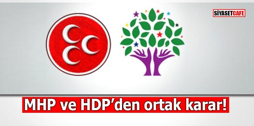 MHP ve HDP aynı karara imza attı