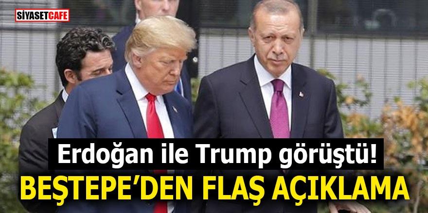 Erdoğan ile Trump görüştü! Beştepe'den flaş açıklama