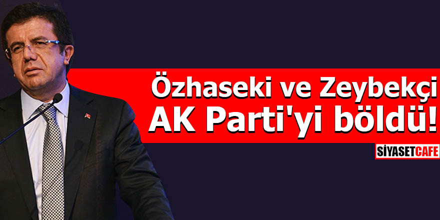 Özhaseki ve Zeybekçi AK Parti'yi böldü!