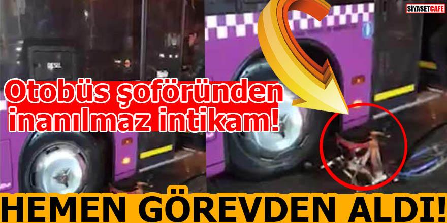 Otobüs şoföründen inanılmaz intikam! Hemen görevden alındı...