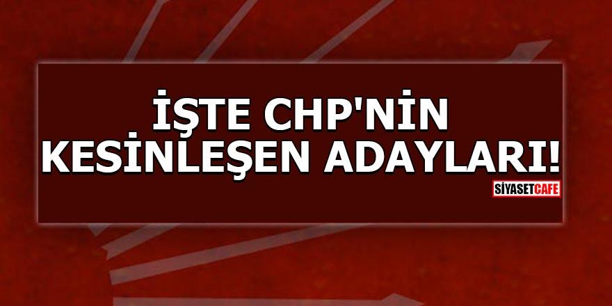 CHP'nin kesinleşen adayları!