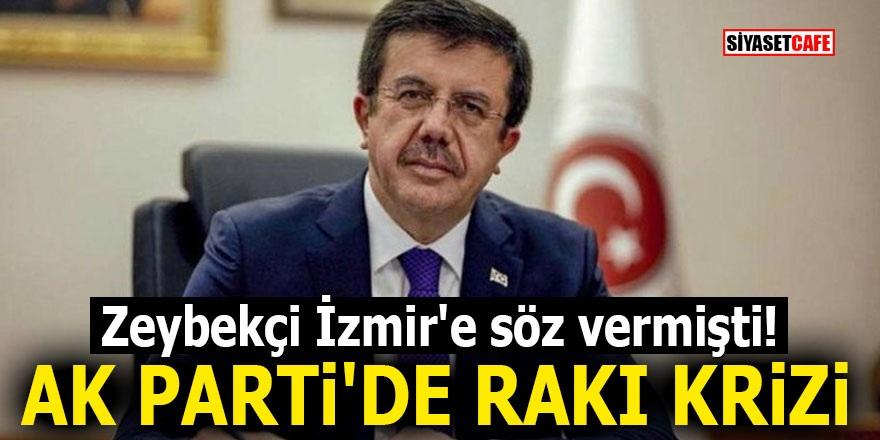 Zeybekçi İzmir'e söz vermişti! AK Parti'de rakı krizi