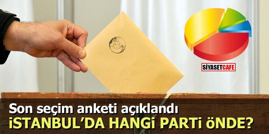 Son seçim anketi açıklandı: İstanbul'da hangi parti önde?