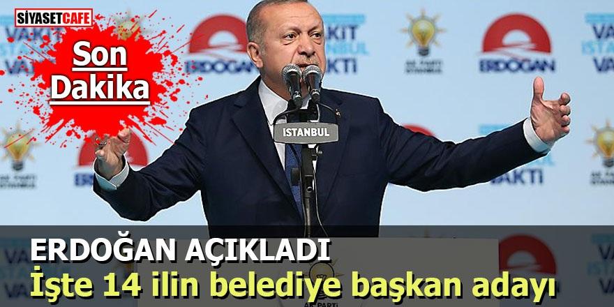Erdoğan açıkladı: İşte 14 ilin belediye başkan adayı