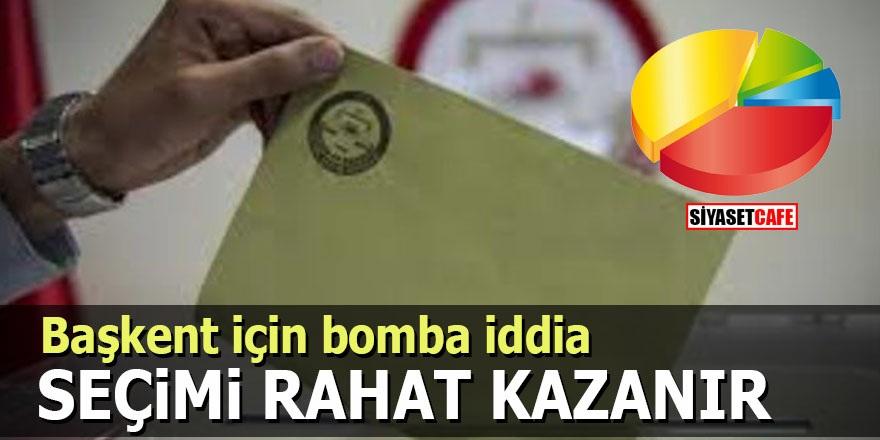 Başkent için bomba iddia: Seçimi rahat kazanır