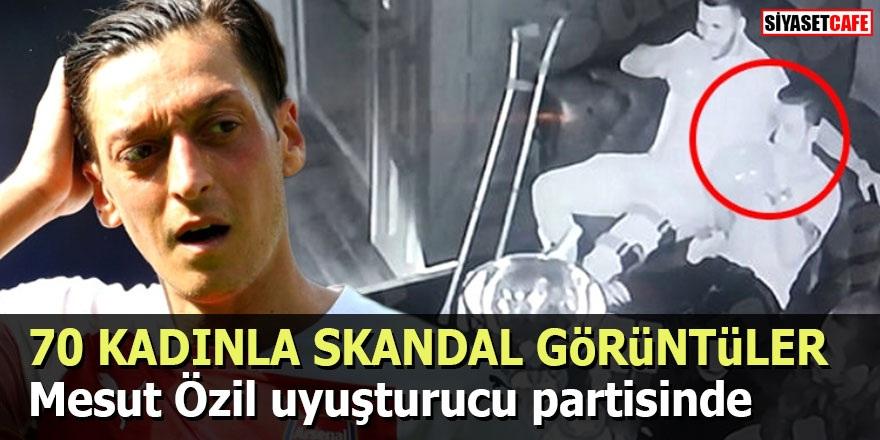70 KADINLA SKANDAL GÖRÜNTÜLER! Mesut Özil uyuşturucu partisinde