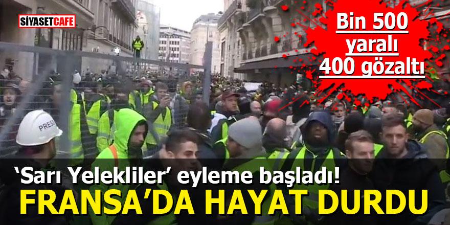 'Sarı Yelekliler' eyleme başladı: Fransa'da hayat durdu