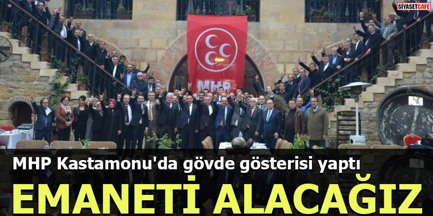 MHP Kastamonu'da gövde gösterisi yaptı EMANETİ ALACAĞIZ
