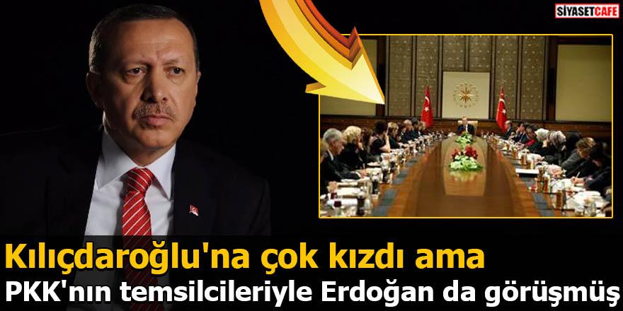 Kılıçdaroğlu'na çok kızdı ama PKK'nın temsilcileriyle Erdoğan da görüşmüş
