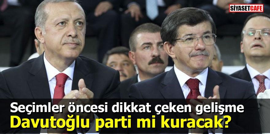 Seçimler öncesi dikkat çeken gelişme: Davutoğlu parti mi kuracak?
