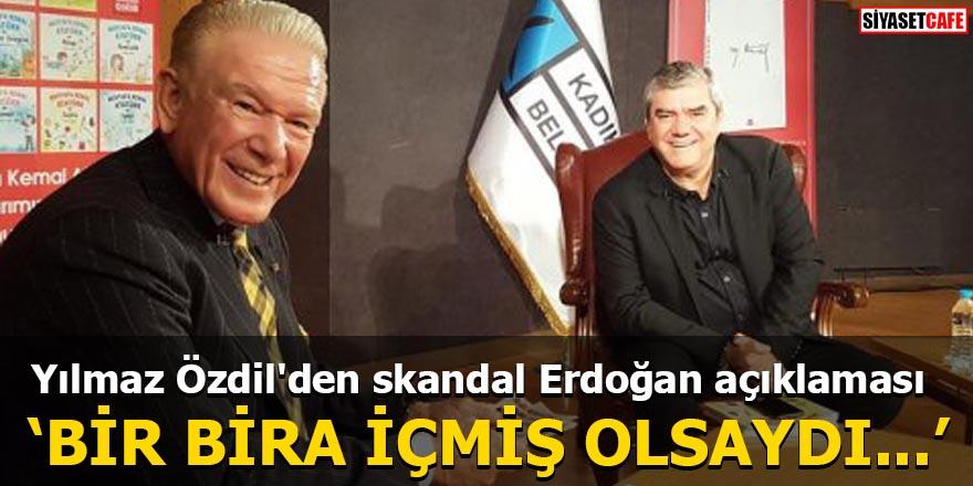 Yılmaz Özdil'den skandal Erdoğan açıklaması 'Bir bira içmiş olsaydı...'