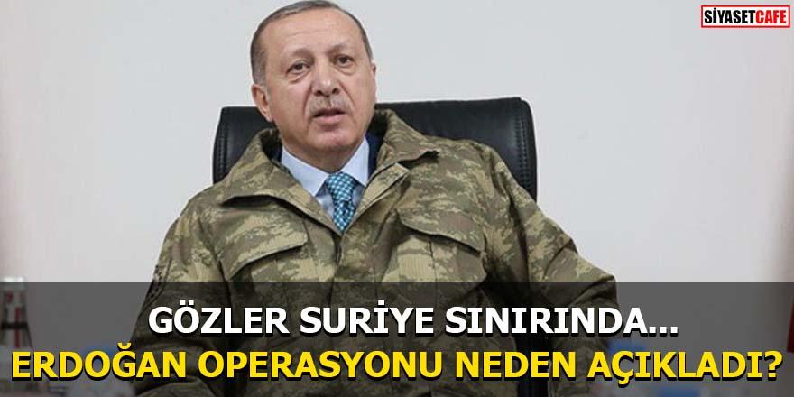 Erdoğan operasyonu neden açıkladı?