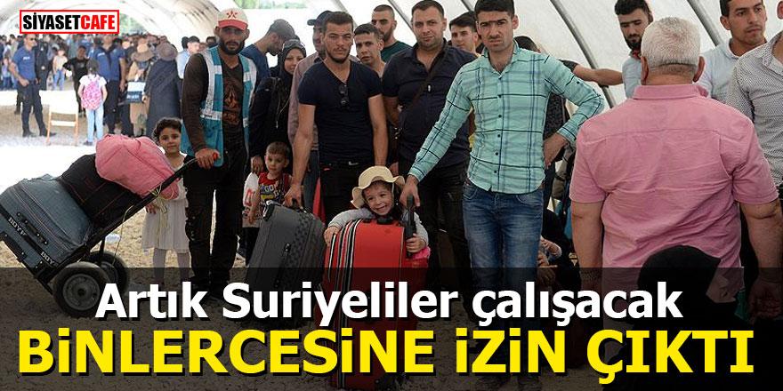 Artık Suriyeliler çalışacak Binlercesine izin çıktı