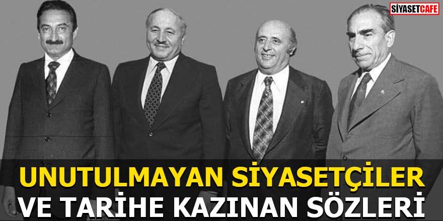 Unutulmayan siyasetçiler Demirel,Türkeş,Ecevit ve Erbakan'dan özlü sözler