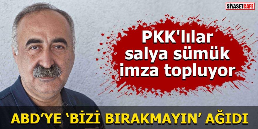 PKK'lılar salya sümük imza topluyor ABD'ye 'Bizi bırakmayın' ağıdı