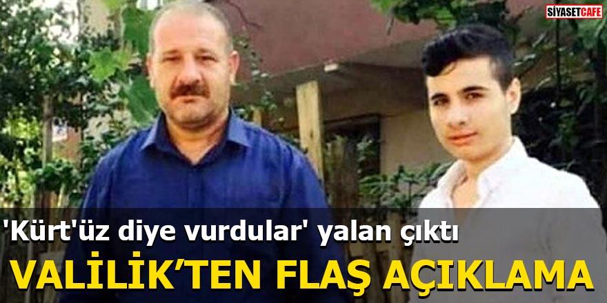 'Kürt'üz diye vurdular' yalan çıktı Valilik'ten flaş açıklama