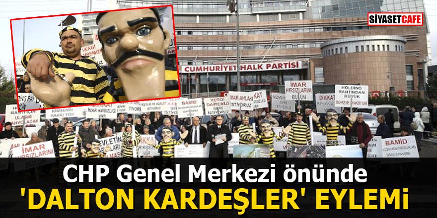 CHP Genel Merkezi önünde 'Dalton Kardeşler' eylemi
