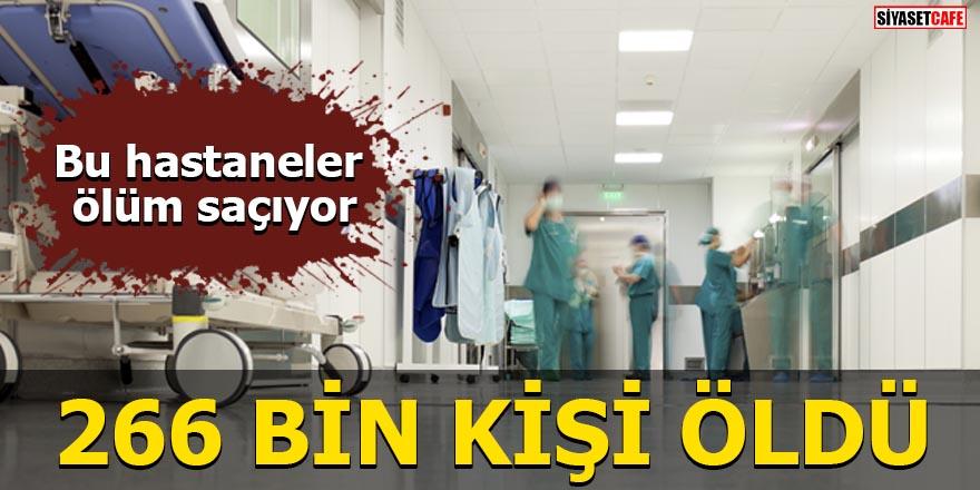Bu hastaneler ölüm saçıyor 266 bin kişi öldü