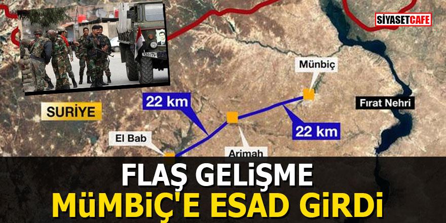 FLAŞ GELİŞME! Mümbiç'e Esad girdi