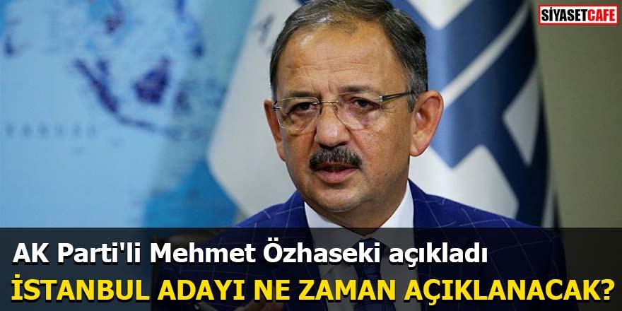 AK Parti'li Mehmet Özhaseki açıkladı İstanbul Adayı Ne Zaman Açıklanacak?