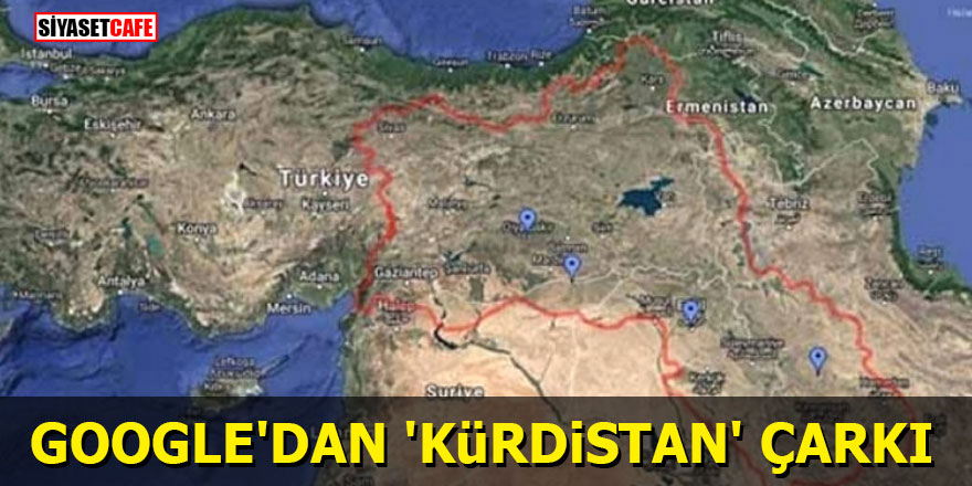 Google'dan 'Kürdistan' çarkı