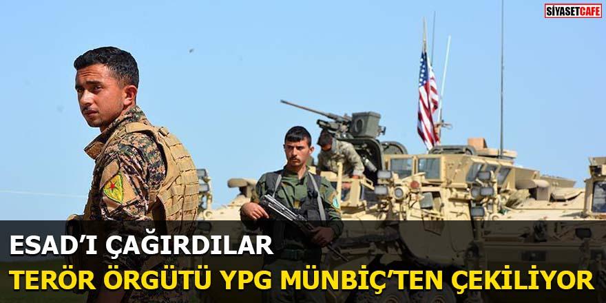Terör örgütü YPG Münbiç'ten çekiliyor Esad'ı çağırdılar