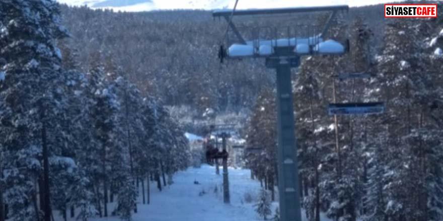 Kayak merkezinde arıza Saatlerce asılı kaldılar