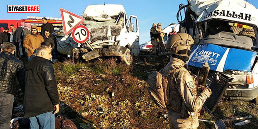 Şanlıurfa'da feci kaza: Çok sayıda ölü ve yaralı var