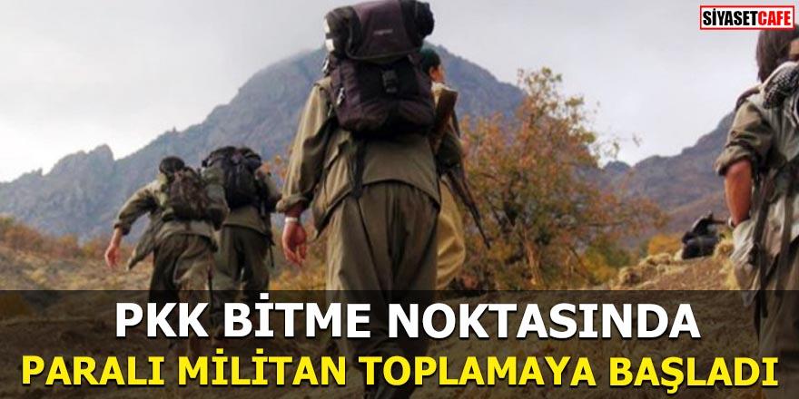 PKK bitme noktasında Paralı militan toplamaya başladı