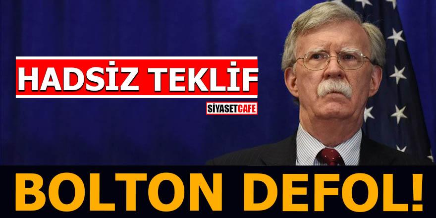 Hadsiz teklifinin cevabını aldı Bolton defol