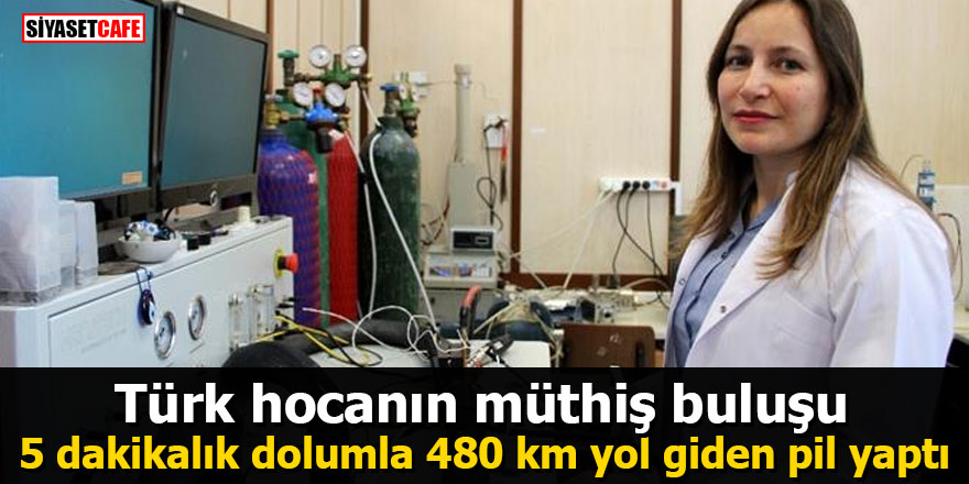 Türk hocanın müthiş buluşu: 5 dakikalık dolumla 480 km yol giden pil yaptı