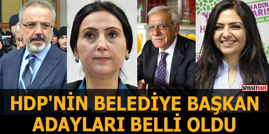 HDP'nin belediye başkan adayları belli oldu