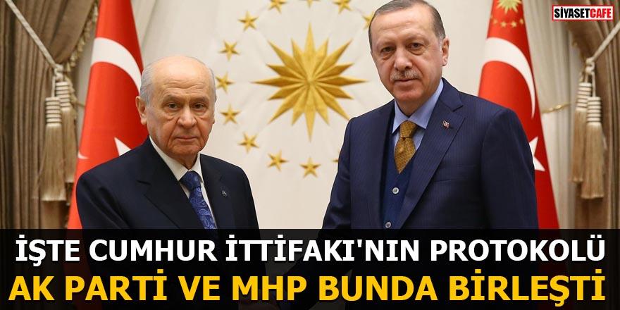 İŞTE CUMHUR İTTİFAKI'NIN PROTOKOLÜ AK Parti ve MHP bunda birleşti