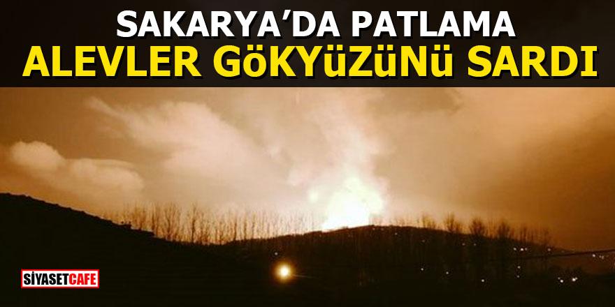 Sakarya'da patlama: Çok sayıda ekip sevk edildi