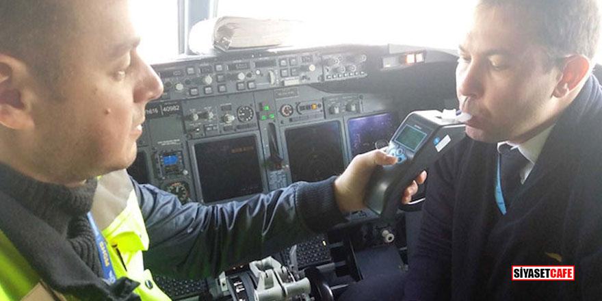 Pilotlara alkol testi başladı