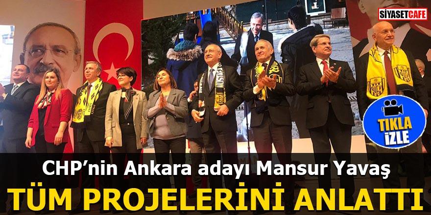 Mansur Yavaş projelerini açıkladı