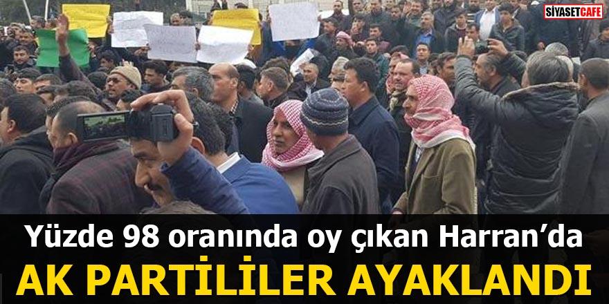 Şanlıurfa'da AK Partililer ayaklandı